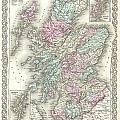 1855 Colton Map Of Scotland by Paul Fearn