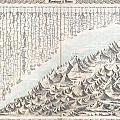 1855 Colton Map Or Chart Of The Worlds Mountains And Rivers by Paul Fearn