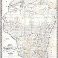 1856 Chapman Pocket Map Of Wisconsin by Paul Fearn