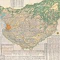 1856 Japanese Edo Period Woodblock Map Of Musashi Kuni Tokyo Or Edo Province by Paul Fearn