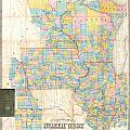 1857 Chapman Pocket Map Of The North West Illinois Wisconsin Iowa  by Paul Fearn