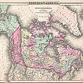 1857 Colton Map Of Canada And Alaska by Paul Fearn
