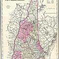 1857 Colton Map Of New Hampshire by Paul Fearn