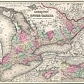 1857 Colton Map Of Ontario Canada by Paul Fearn