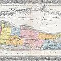 1857 Colton Travellers Map Of Long Island New York by Paul Fearn