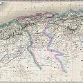 1857 Dufour Map Of Algeria by Paul Fearn
