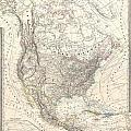 1857 Dufour Map Of North America by Paul Fearn