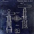 1862 Corkscrew Patent Drawing by Jon Neidert