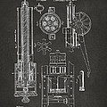 1862 Gatling Gun Patent Artwork - Gray by Nikki Marie Smith
