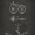 1866 Velocipede Bicycle Patent Artwork - Gray by Nikki Marie Smith