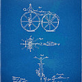 1866 Velocipede Bicycle Patent Blueprint by Nikki Marie Smith