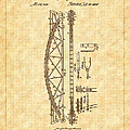 1868 Davenport Truss Bridge Patent by Barry Jones