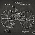 1869 Velocipede Bicycle Patent Artwork - Gray by Nikki Marie Smith