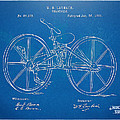 1869 Velocipede Bicycle Patent Blueprint by Nikki Marie Smith