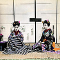 1870 Japanese Geisha In Drawing Room by Historic Image