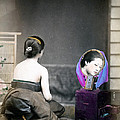 1870 Japanese Woman In Her Dressing Room by Historic Image