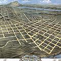 1871 Birds Eye Map Of Chattanooga by Stephen Stookey