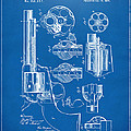 1875 Colt Peacemaker Revolver Patent Blueprint by Nikki Marie Smith