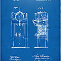 1876 Beer Keg Cooler Patent Artwork Blueprint by Nikki Marie Smith