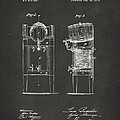 1876 Beer Keg Cooler Patent Artwork - Gray by Nikki Marie Smith