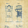 1876 Beer Keg Cooler Patent Artwork - Vintage by Nikki Marie Smith