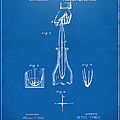 1878 Cork Extractor Patent Artwork - Blueprint by Nikki Marie Smith