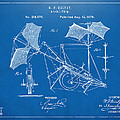 1879 Quinby Aerial Ship Patent - Blueprint by Nikki Marie Smith