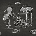 1879 Quinby Aerial Ship Patent - Gray by Nikki Marie Smith