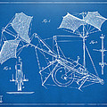 1879 Quinby Aerial Ship Patent Minimal - Blueprint by Nikki Marie Smith