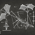 1879 Quinby Aerial Ship Patent Minimal - Gray by Nikki Marie Smith