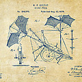 1879 Quinby Aerial Ship Patent - Vintage by Nikki Marie Smith
