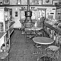 1880 Drug Store Black And White by Ken Smith