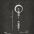1880 Edison Electric Lamp Patent Artwork - Gray by Nikki Marie Smith