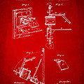 1881 Taylor Camera Obscura Patent Red by Nikki Marie Smith