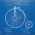 1881 Velocipede Bicycle Patent Artwork - Blueprint by Nikki Marie Smith
