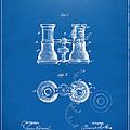1882 Opera Glass Patent Artwork - Blueprint by Nikki Marie Smith