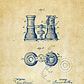 1882 Opera Glass Patent Artwork - Vintage by Nikki Marie Smith