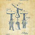 1883 Wine Corckscrew Patent Artwork - Vintage by Nikki Marie Smith