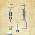 1884 Corkscrew Patent Artwork - Vintage by Nikki Marie Smith