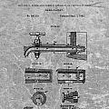 1885 Beer Tap Patent Charcoal by Dan Sproul
