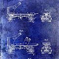 1885 Roller Skate Patent Drawing Blue by Jon Neidert