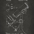 1886 Microscope Patent Artwork - Gray by Nikki Marie Smith