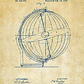 1886 Terrestro Sidereal Globe Patent 2 Artwork - Vintage by Nikki Marie Smith