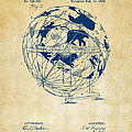 1886 Terrestro Sidereal Globe Patent Artwork - Vintage by Nikki Marie Smith