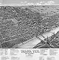 1886 Vintage Map Of Waco Texas by Stephen Stookey