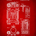1889 First Computer Patent Red by Nikki Marie Smith