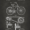 1890 Bicycle Patent Artwork - Gray by Nikki Marie Smith