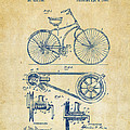 1890 Bicycle Patent Artwork - Vintage by Nikki Marie Smith