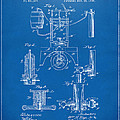 1890 Bottling Machine Patent Artwork Blueprint by Nikki Marie Smith