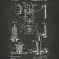 1890 Bottling Machine Patent Artwork Gray by Nikki Marie Smith